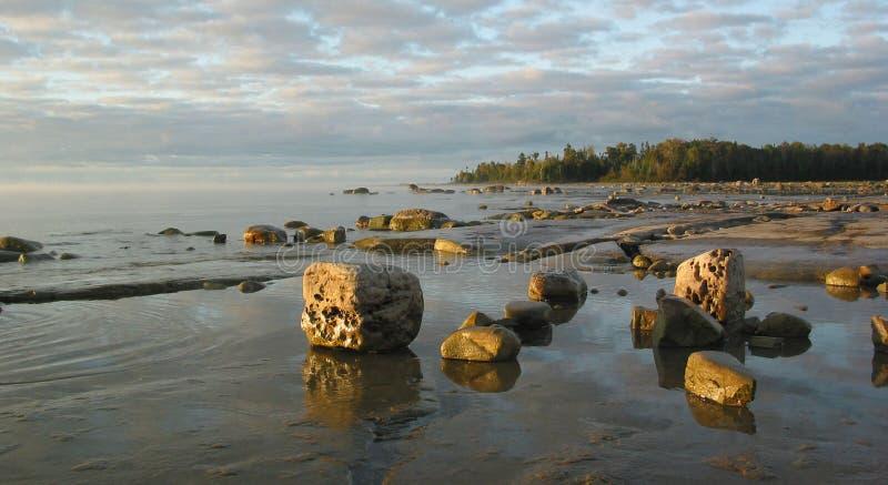 Rocky Manitoulin Bay royalty free stock photography