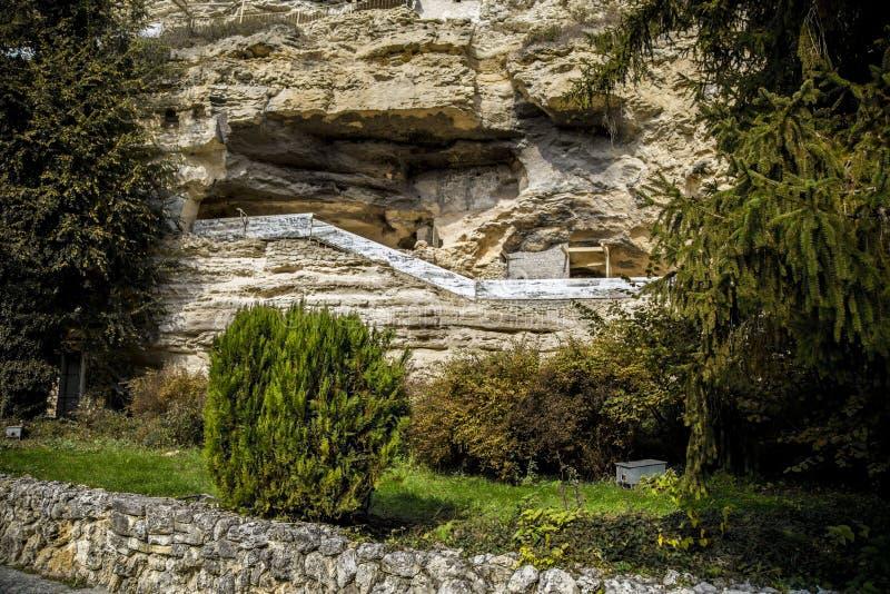 Rocky monastery of Aladza, Bulgaria. stock photos