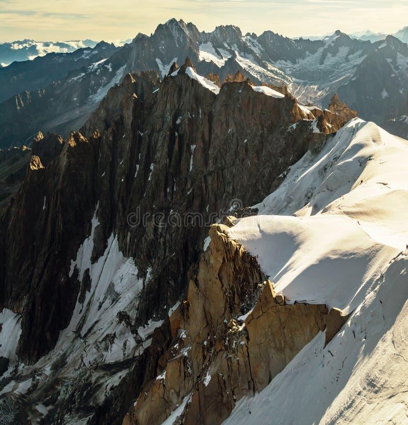 Rocky Mount Blanc-massiv i gryningen arkivbilder
