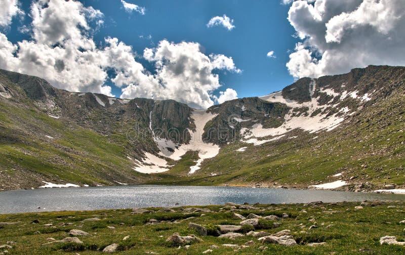 Rocky Mountain Alpine Glacier-meer royalty-vrije stock foto's