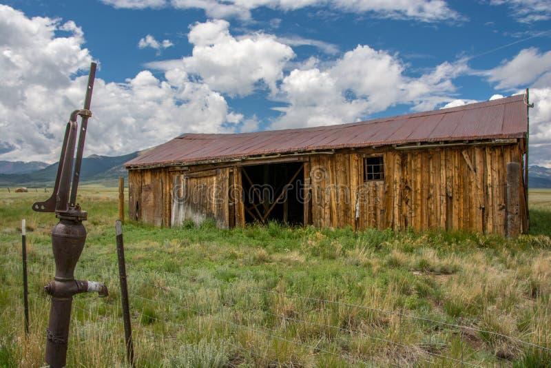 Rocky Mountain Barn stock image