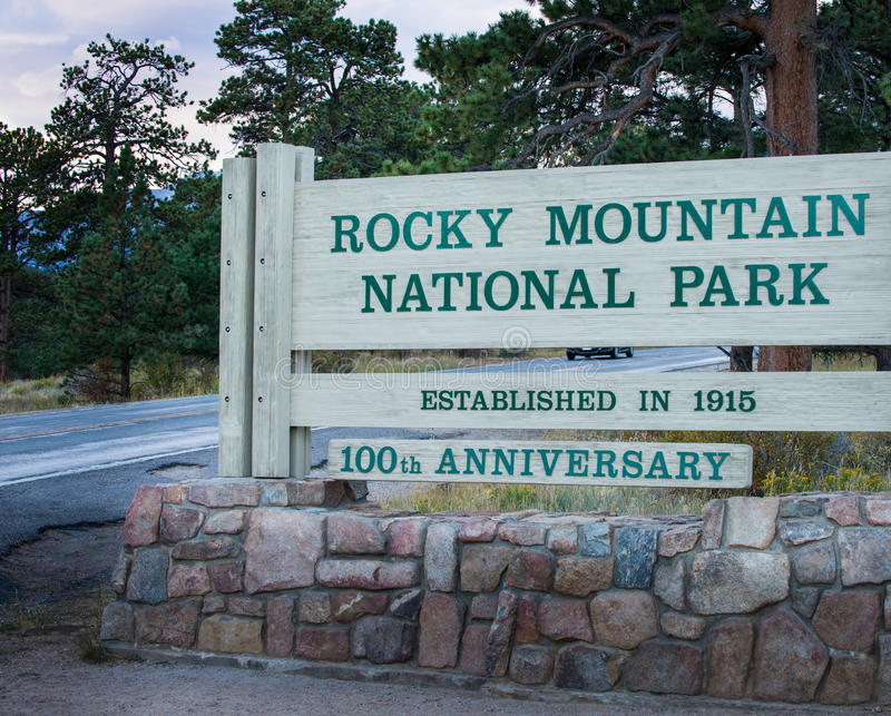 Rocky Mountain Entrance royalty free stock image