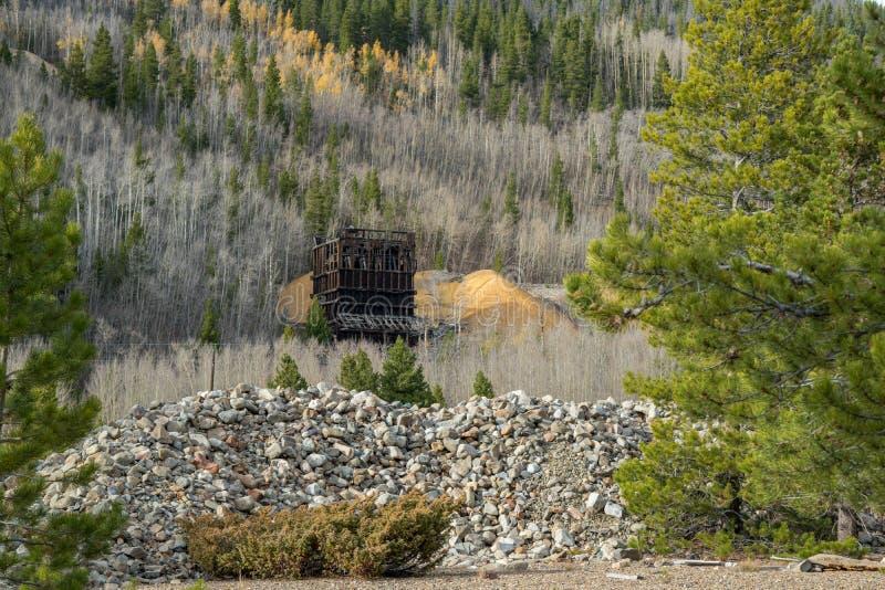 Rocky Mountain Gold Mine imagem de stock royalty free