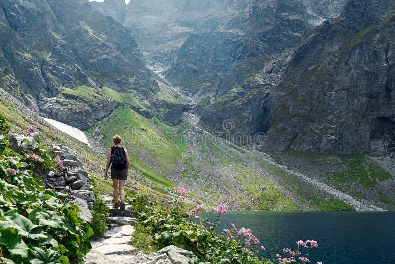 Rocky Mountain Hiker lizenzfreie stockbilder