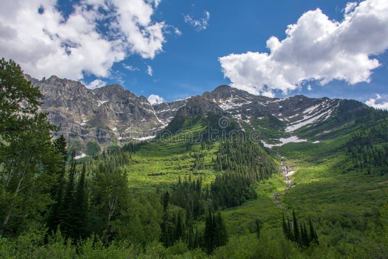 Rocky Mountain i glaciärnationalparken, Montana USA arkivbild
