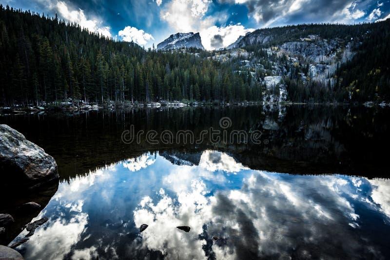 Rocky Mountain National Park bij Zonsondergang stock foto's