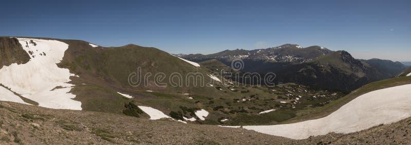 Rocky Mountain National Park - Lava Cliffs Overlook Panoramic stock photos