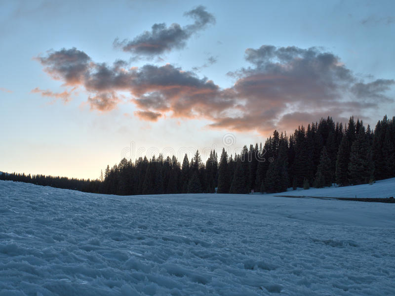 Rocky Mountain National Park Sunset imagens de stock royalty free