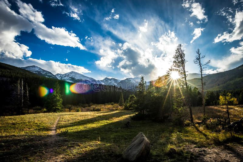 Rocky Mountain National Park. Taken in the valley of Rocky Mountain National Park stock photo