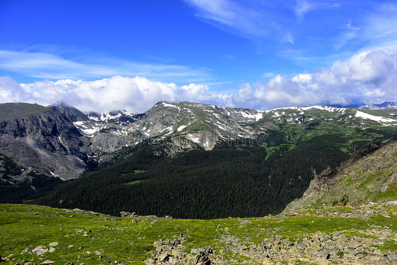 Rocky Mountain National Park. View at Rocky Mountain National Park, Colorado royalty free stock photos