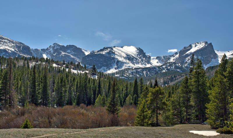 Rocky Mountain National Park Vista. A spectacular scenic vista from the Rocky Mountain National Park, just outside Estes Park, Colorado royalty free stock photography