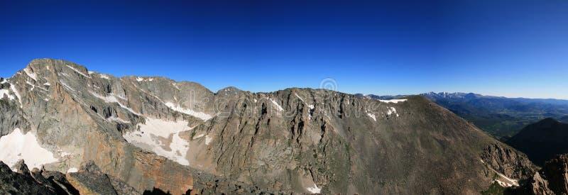 Rocky mountain panorama royalty free stock photo