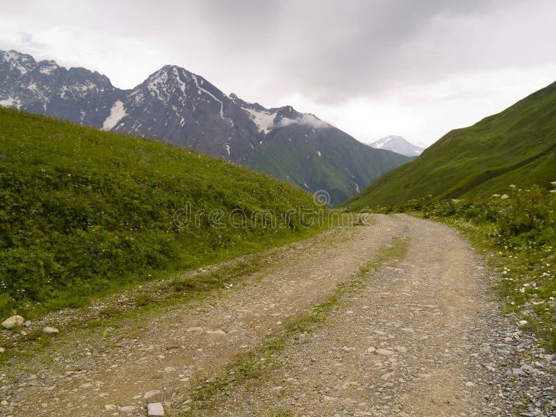 Rocky mountain path royalty free stock photo