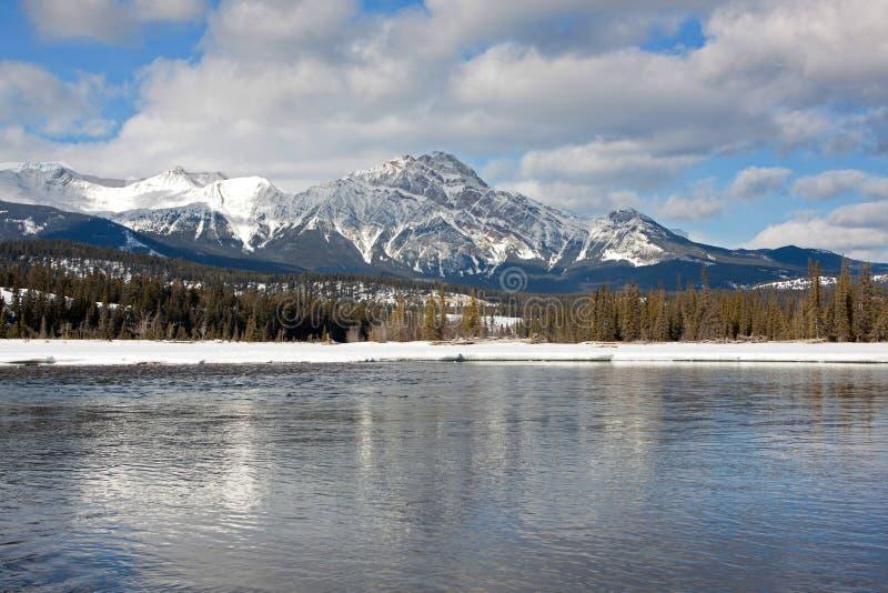 Rocky Mountain Reflection stockbilder