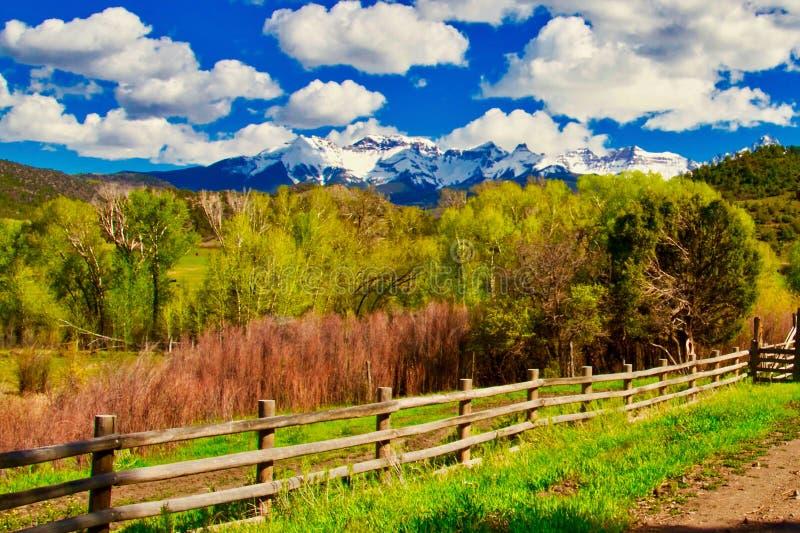 Rocky Mountain Splendor Near Ridgway imagem de stock royalty free