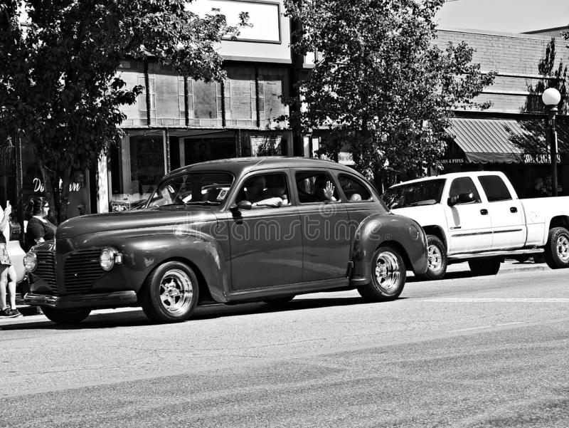 2019 Rocky Mountain Street Rod Nationals-Parade royalty-vrije stock afbeeldingen