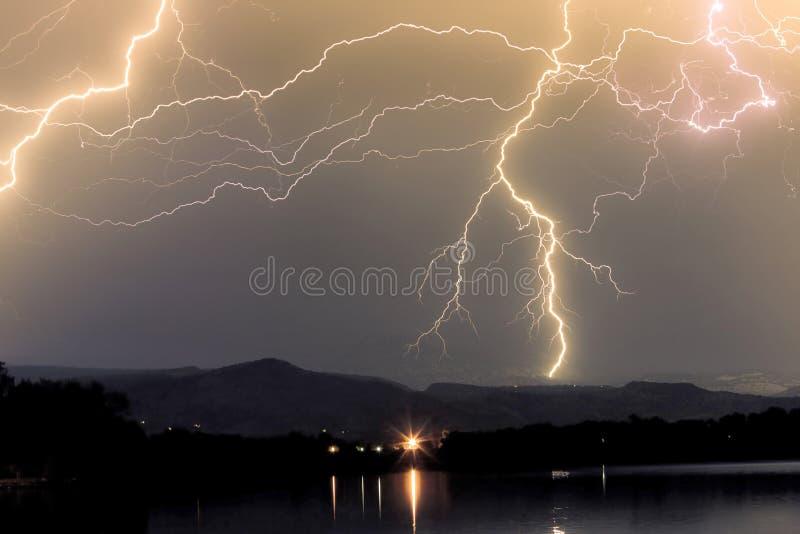 Rocky Mountain Thunderstorm imagenes de archivo
