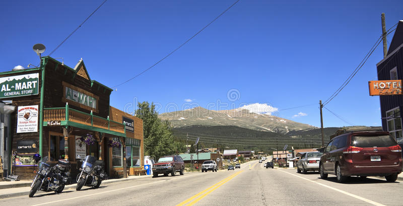 Rocky Mountain town of Alma. Main street in the small historic Rocky Mountain town of Alma, South Park, Colorado, USA royalty free stock photography