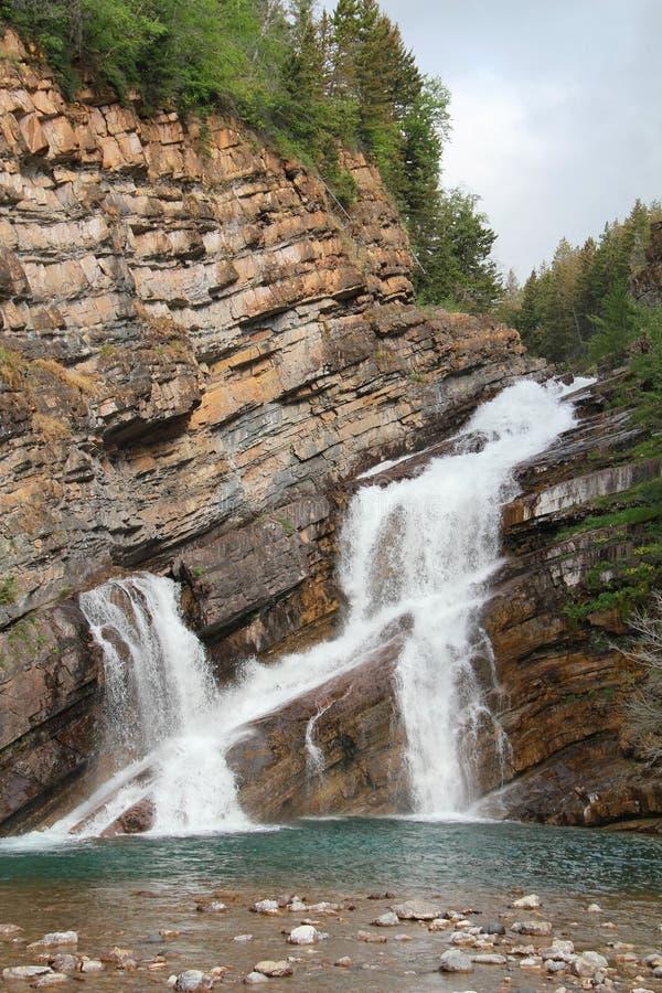 Rocky Mountain Waterfall - Waterton, Alberta