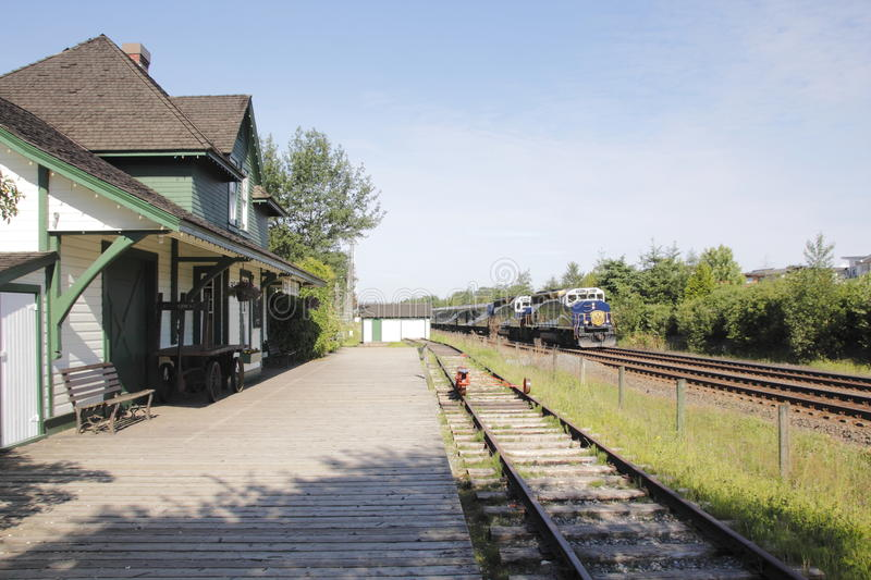 Rocky Mountaineer dans le fort Langley photos libres de droits