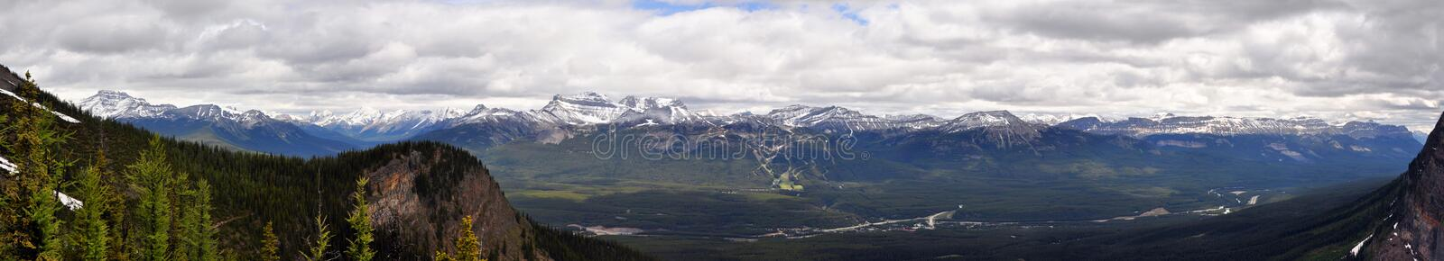 Rocky mountains. Panorama picture of Rocky Mountains in Banff National Park stock images