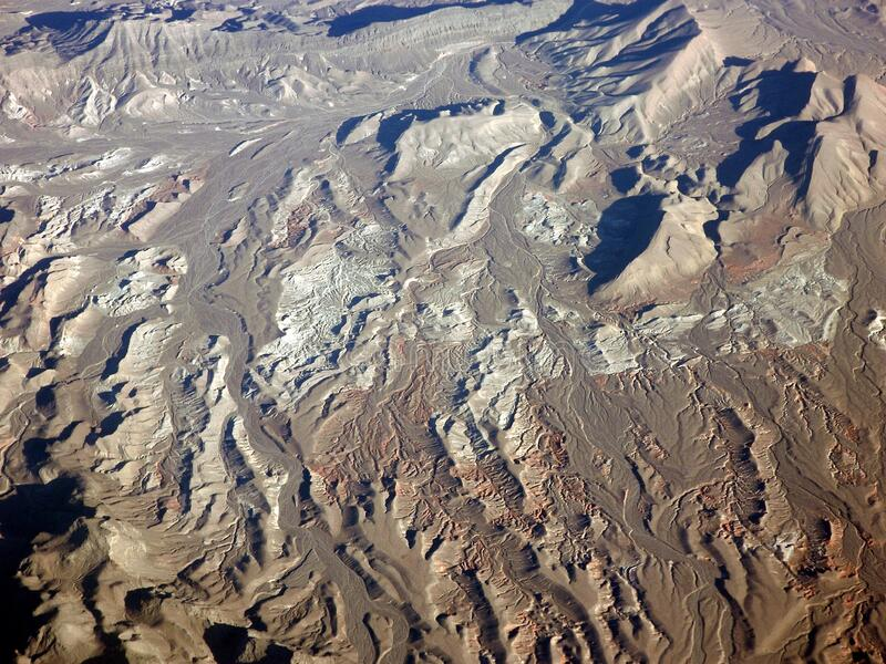 Rocky Mountains America aridity. Airplane views of air views America featuring America aridity. The image location is America royalty free stock images