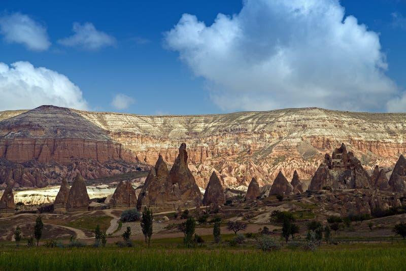 Rocky Mountains in Cappadocia stockfoto
