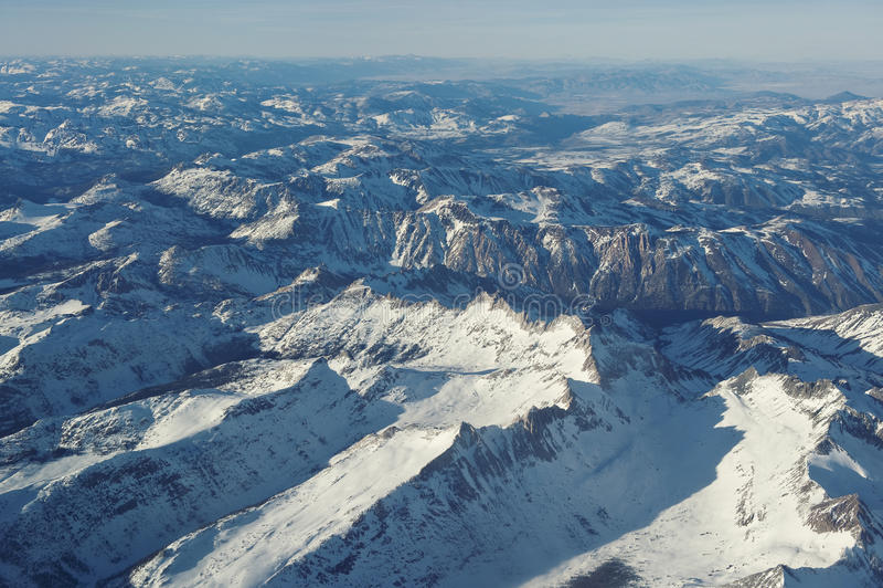 Rocky Mountains desde arriba fotografía de archivo libre de regalías