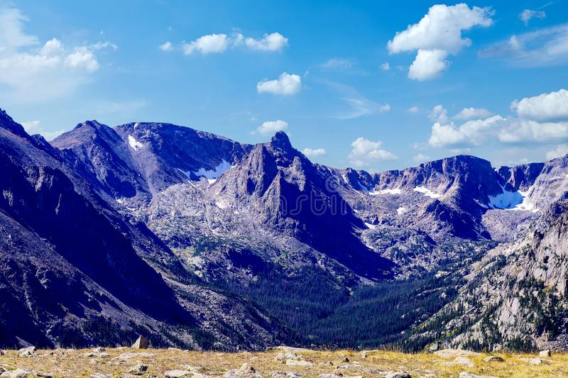 Rocky Mountains ist ein Gebirgszug in den USA stockbild