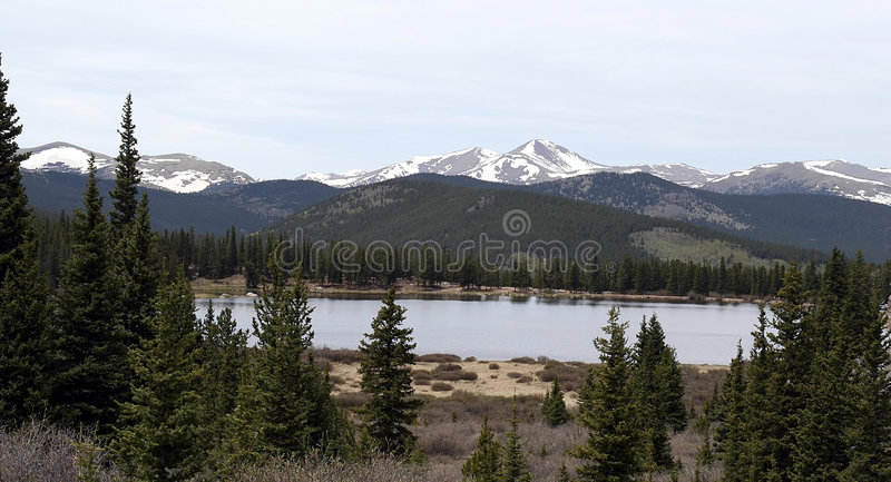 Rocky Mountains Lake View royalty free stock photos