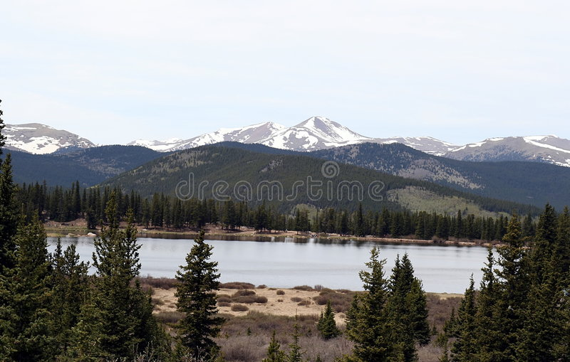 Rocky Mountains Lake View royalty free stock images