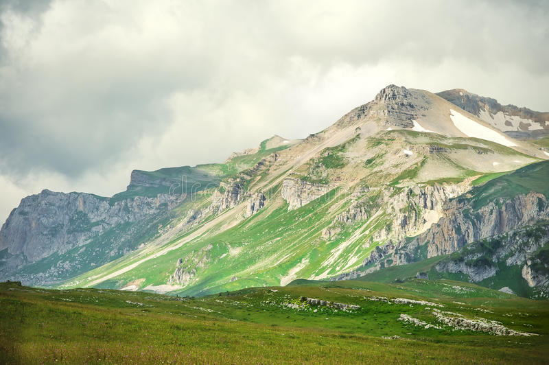 Download Rocky Mountains Landscape With Moody Clouds Sky Stock Image - Image: 37009745