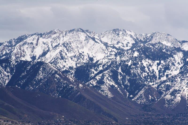 Rocky Mountains nahe Salt Lake lizenzfreie stockbilder