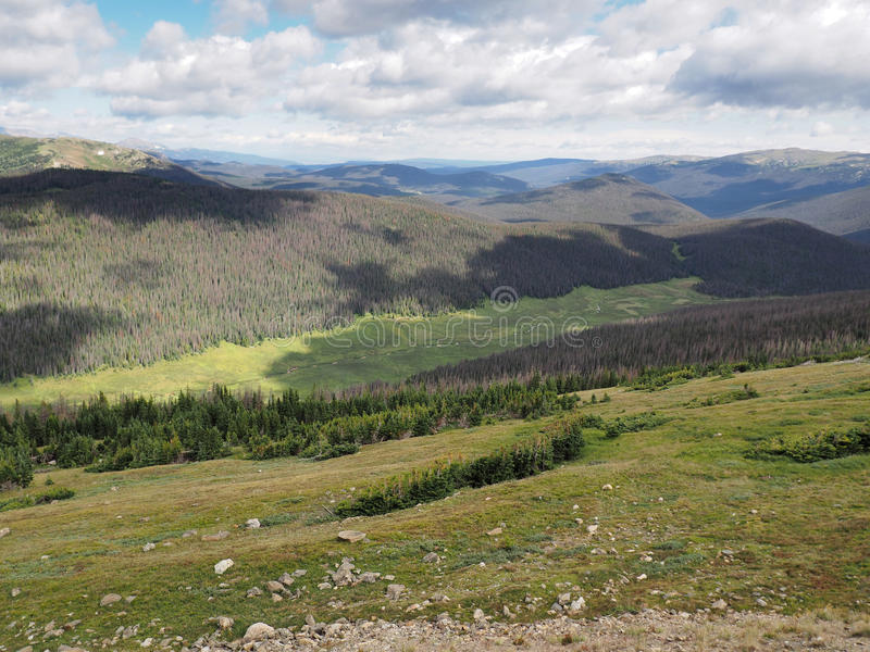 Rocky Mountains National Park in Colorado stock photo