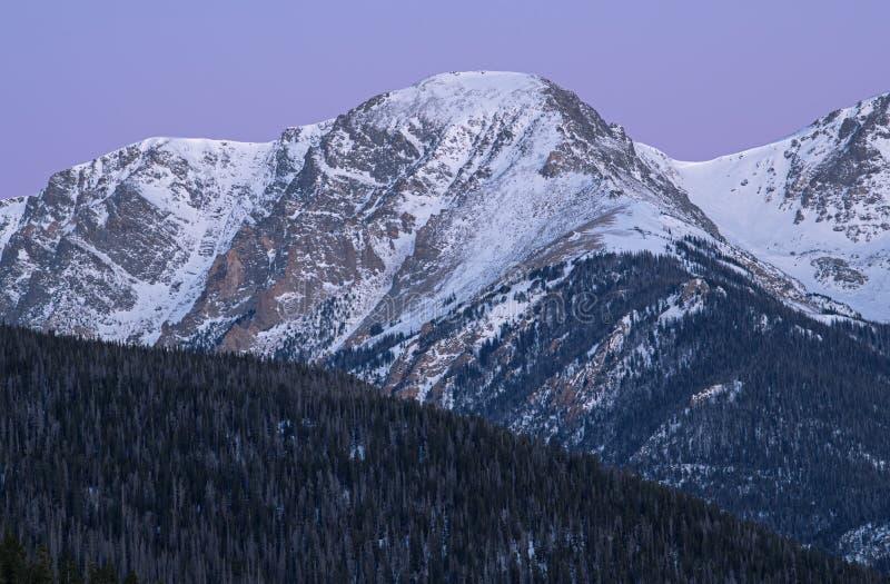 Rocky Mountains National Park in Dawn stockbilder