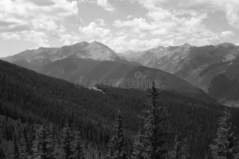 Rocky Mountains perto de Aspen Colorado foto de stock
