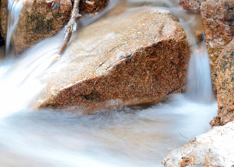 Rocky Mountains Winter Stream Royalty Free Stock Image