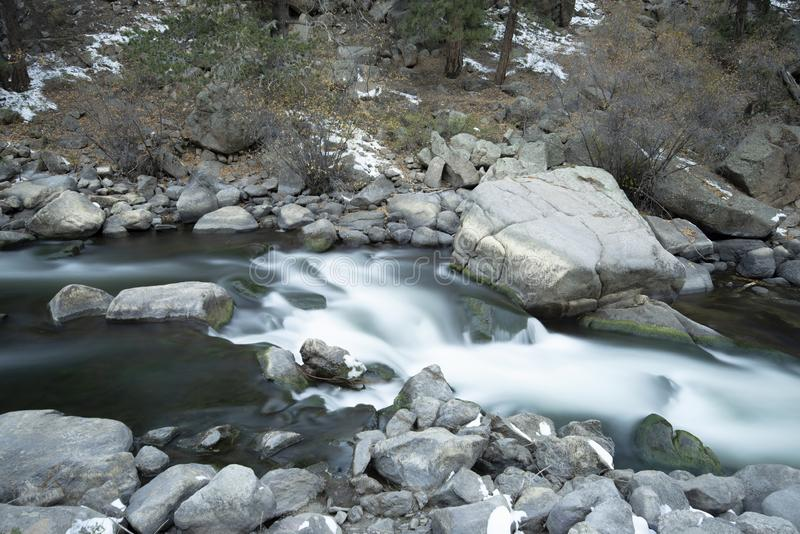 Rocky mountian flowing stream water stock photography