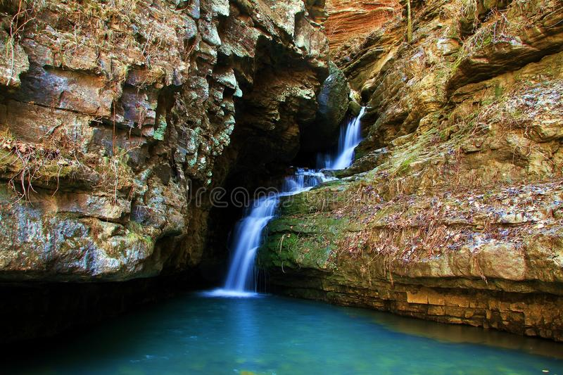 Rocky Multi Level Waterfall images stock