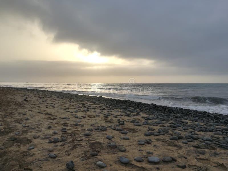rocky na plaży zdjęcie royalty free