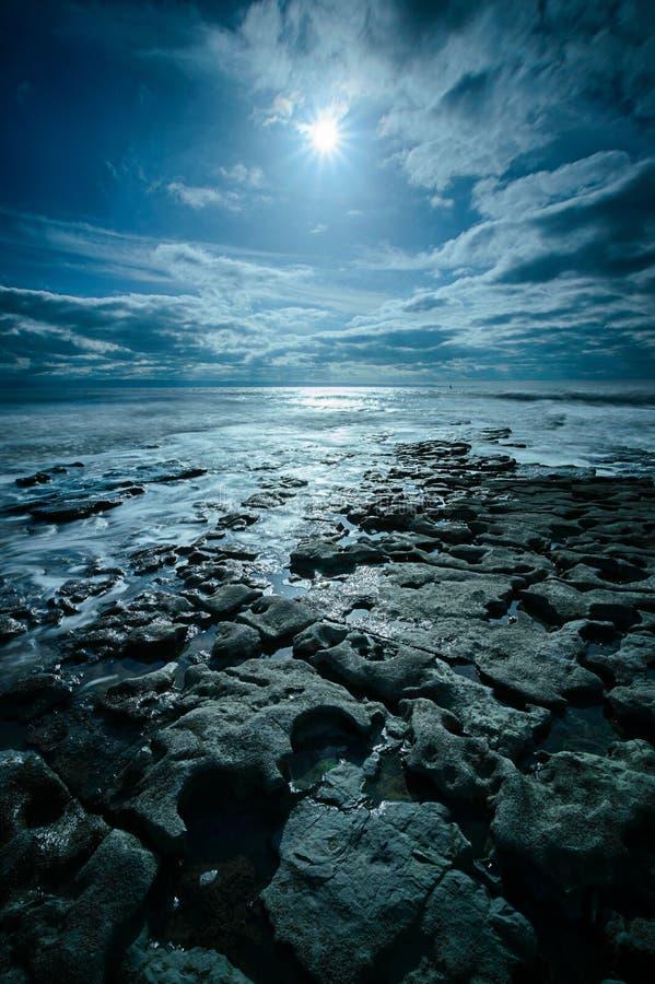 Rocky Nash Point. Interesting shaped rocks at Nash Point, on the Glamorgan Coast, Wales stock photography