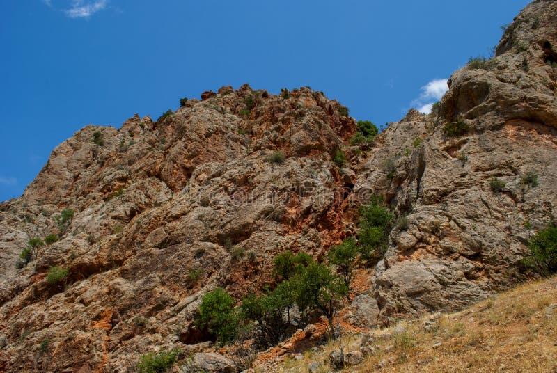 Rocky Nature dichtbij Noravank complex in Amaghu-Vallei, de Provincie van Vayots Dzor, Armenië royalty-vrije stock fotografie