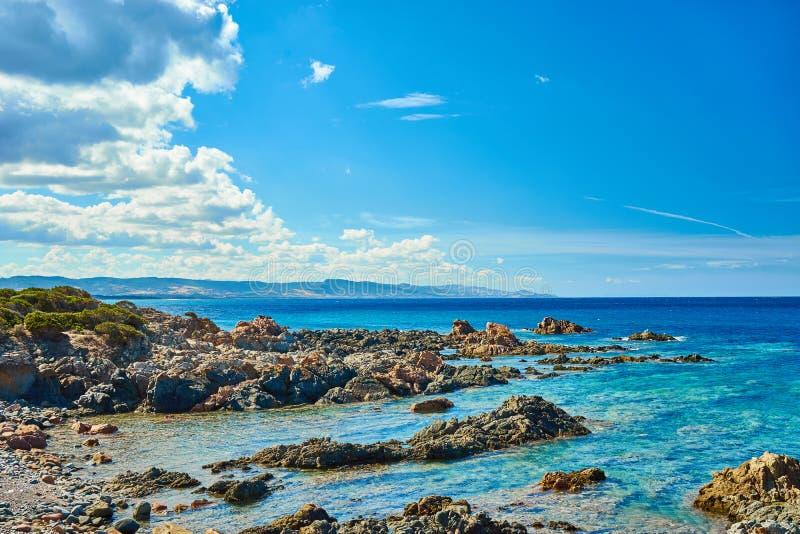 Rocky north coast of Sardinia - Costa Paradiso royalty free stock image