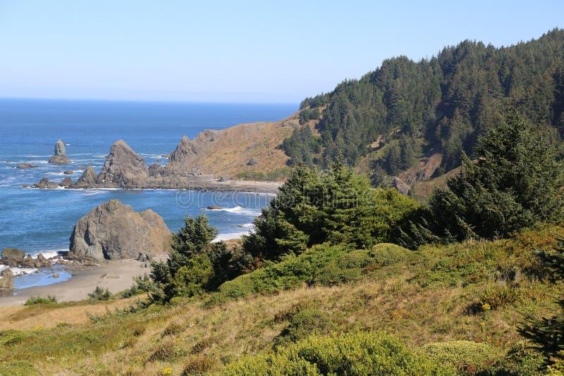 Rocky Pacific Coastline royalty-vrije stock foto's
