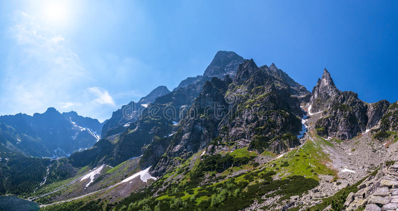 Rocky peak in the Tatra Mountais. royalty free stock image