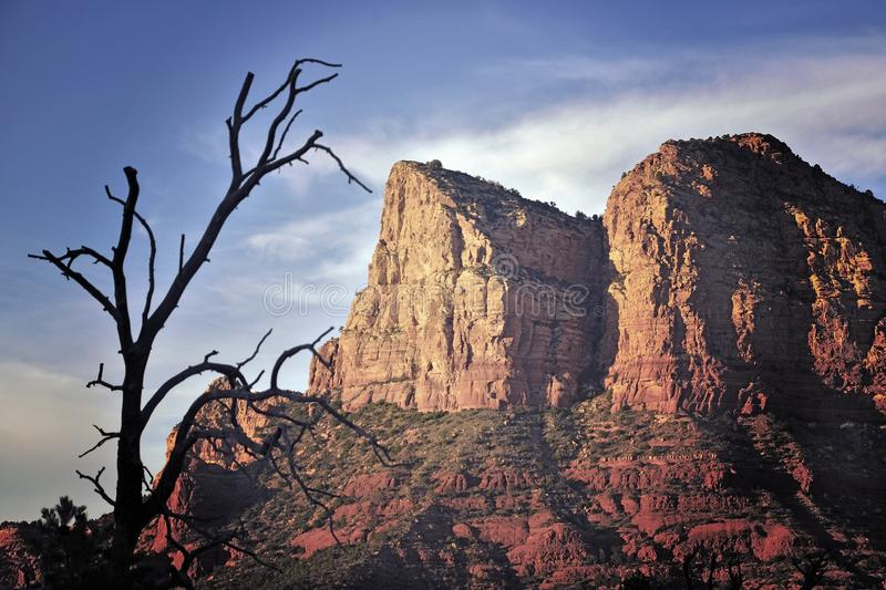 Rocky peaks in Arizona royalty free stock images