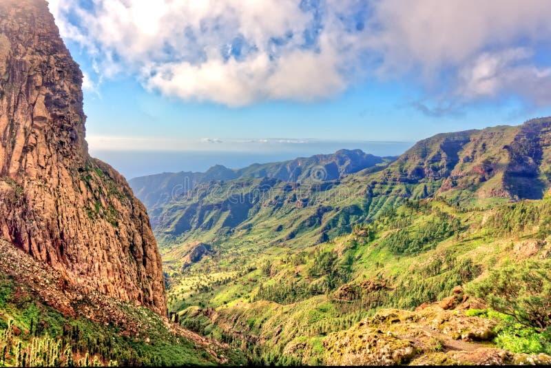 Rocky Ravine en La Gomera photographie stock