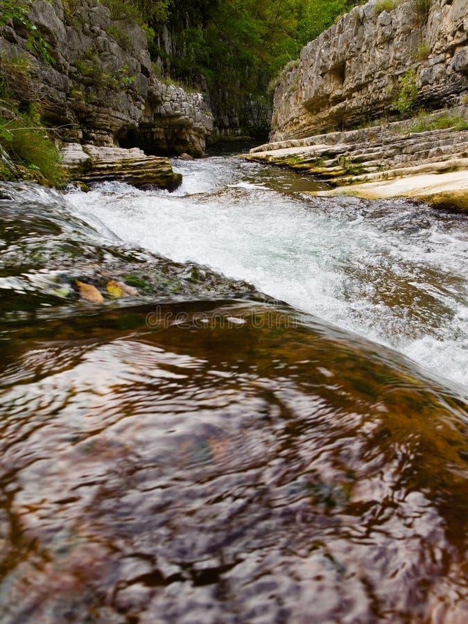 Rocky river gorge stock photos