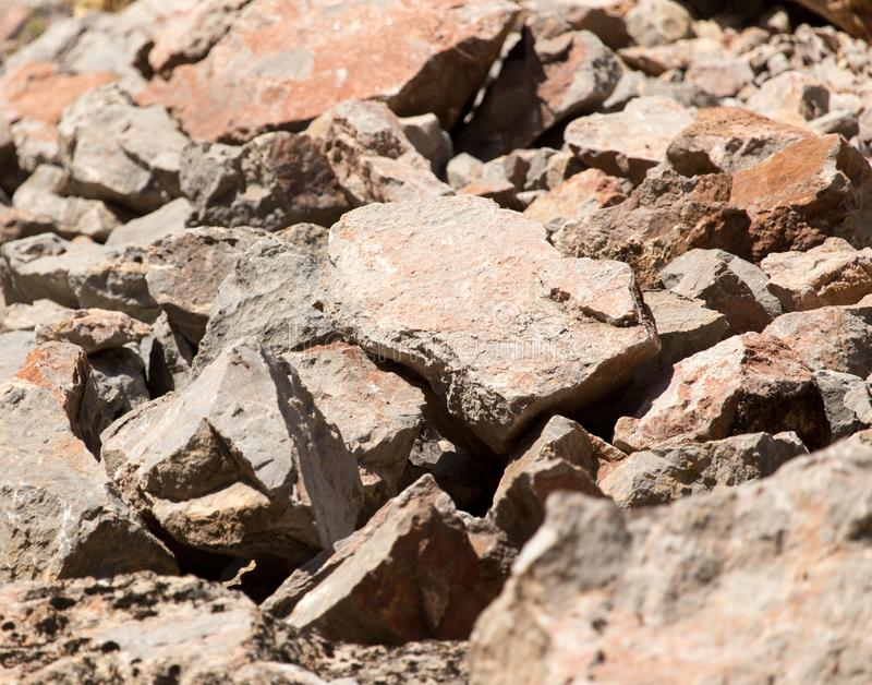 Rocky rock as background stock images