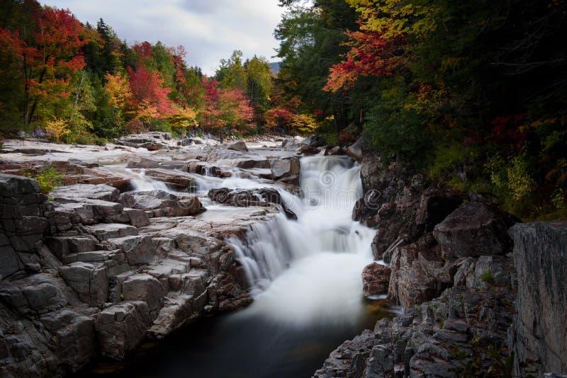 Rocky scenic gorge area during fall foliage season royalty free stock photos